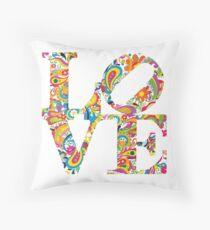 LOVE - White Throw Pillow