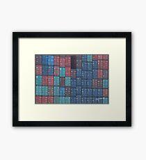 Container Tetris Framed Print