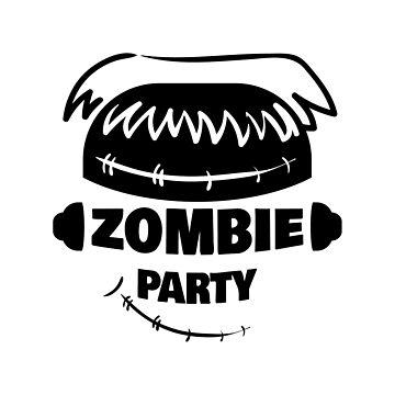 Zombie Party Badge by Chesnochok