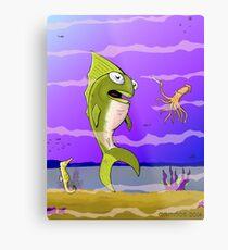 Punked Fish Metal Print