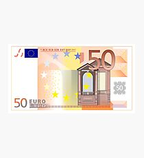 Fifty Euro Note Photographic Print