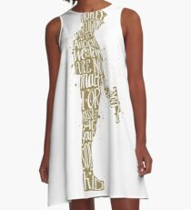 Hockey Religion Typography Quotes A-Line Dress