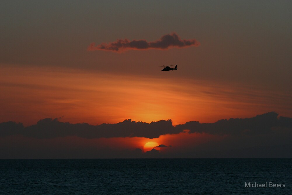 HELI SUNSET by Michael Beers