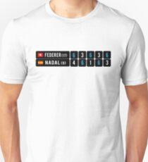 Roger Federer gegen Rafael Nadal Australian Open 2017 Slim Fit T-Shirt