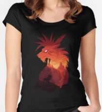 The Canyon's Guardian Black Women's Fitted Scoop T-Shirt