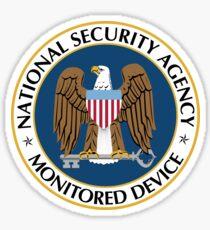 NSA Monitored Device Sticker