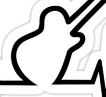Electric guitar frequency Sticker