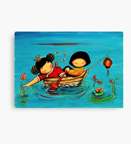 Lotus Love Canvas Print