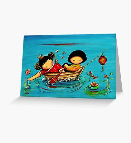 Lotus Love Greeting Card