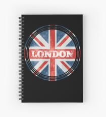 London England Roundel Souvenirs Distressed Circle Spiral Notebook