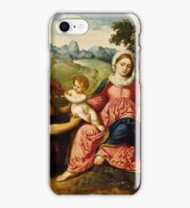 Paris Bordone - Madonna and Child with Saints Jerome and Francis iPhone Case/Skin