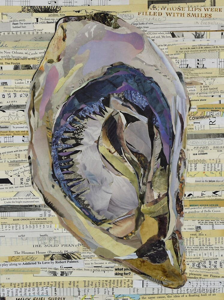 Oyster Collage by C.E. White by cewhiteart