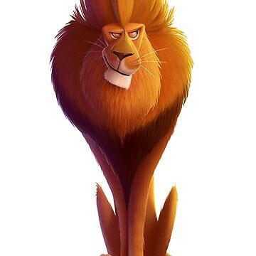lion anime by ibrahimGhd