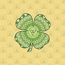 Celtic Shamrock by Valerie Hartley Bennett