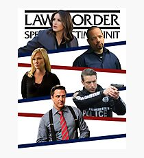 SVU Stripes Poster Photographic Print