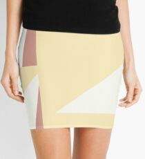Diseño formas amarillas Mini Skirt