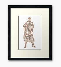 This is how liberty dies typography quote Framed Print