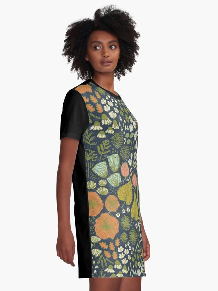 Alternative Ansicht von Botanisches Skizzenbuch M + M Navy von Friztin T-Shirt Kleid