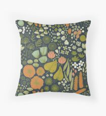 Botanical Sketchbook M+M Navy by Friztin Floor Pillow