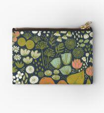Botanical Sketchbook M+M Navy by Friztin Zipper Pouch