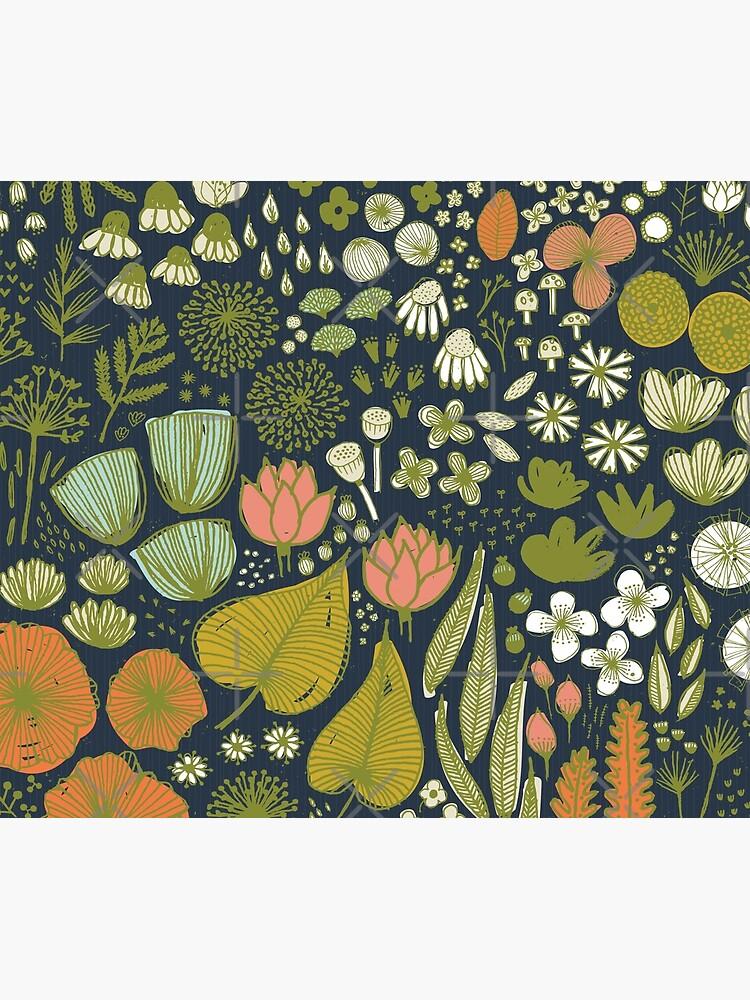 Botanical Sketchbook M+M Navy by Friztin by friztin