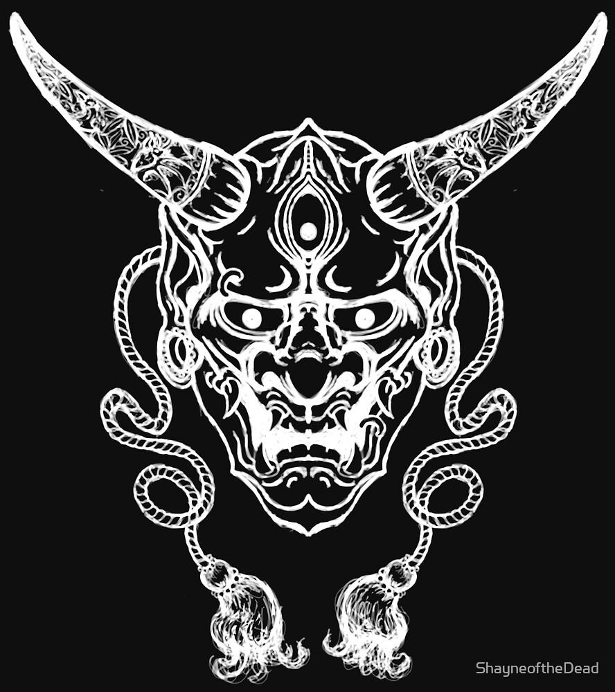 Hanya Demon Mask by ShayneoftheDead