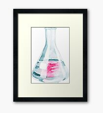 Phenolphthalein: Titration in Watercolor Framed Print
