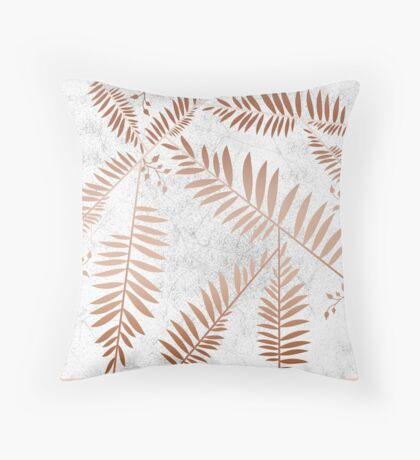 Connection of Marble Copper Throw Pillow