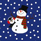 Cute Penguin Snowman Holiday Design by oursunnycdays