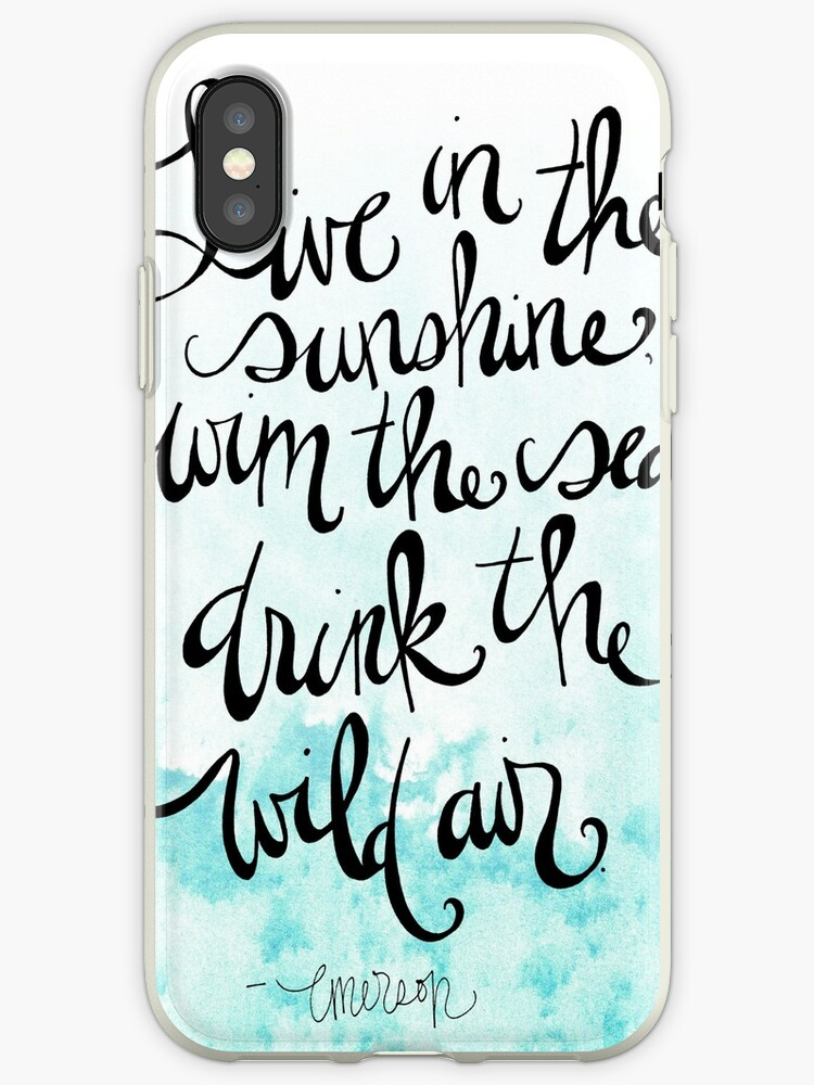 Live In The Sunshine Quote By Ralph Waldo Emerson Iphone Cases
