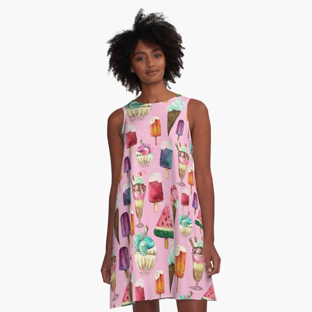ice-cream pattern A-Line Dress