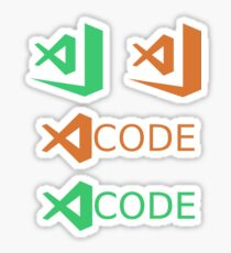 visual studio code (insider/stable mix x4) Sticker