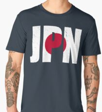 Grunge Japanese Flag Men's Premium T-Shirt