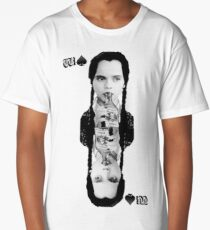 wednesday addams spade playing card poison queen Long T-Shirt