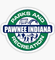 Parks and Recreation Pawnee Indiana Sticker