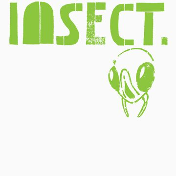 Insects Surfing Club t-shirt - Design 2 (radiation green) by hotbeetees