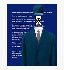 Vaporrwave Blank figure Magritte edit Photographic Print