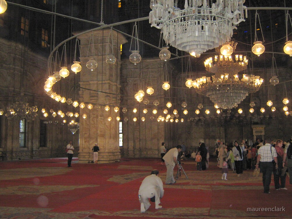 Inside the Mosque by maureenclark