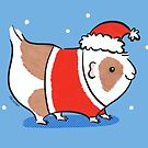 Santa Piggy - Santa Claus Guinea Pig by zoel