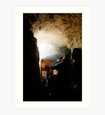 entrance to redcliffe caves Art Print