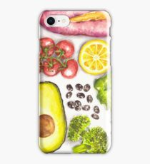 Watercolor Healthy Food iPhone Case/Skin