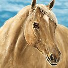 A Blond Horse Painting by ibadishi