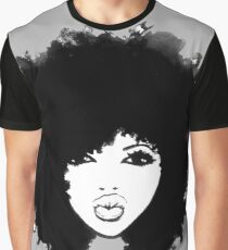 Natural Hair Curly Hair Autumn Black Afro Graphic T-Shirt