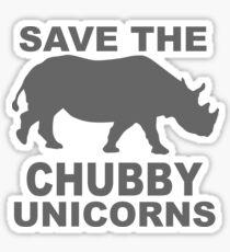 SAVE THE CHUBBY RHINO UNICORN! Sticker