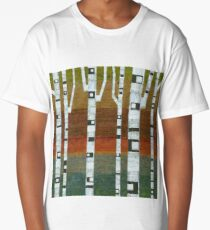 Birches with Blue and Orange Long T-Shirt