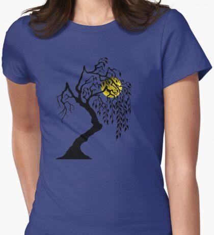 black tree yellow moon T-Shirt