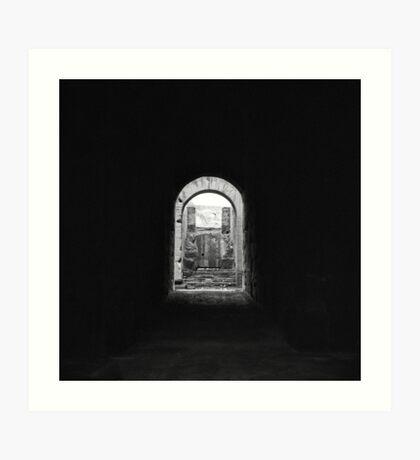 Colosseum tunnel, Roma Art Print