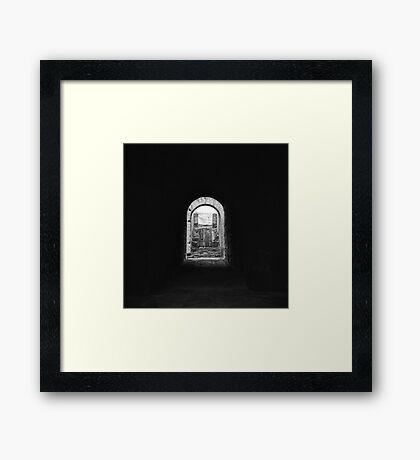 Colosseum tunnel, Roma Framed Print