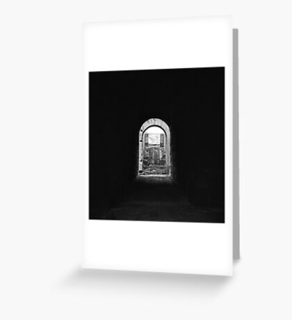 Colosseum tunnel, Roma Greeting Card