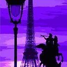 Paris Tour Eiffel Violet by Yuriy Shevchuk